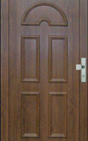 Műanyag és fa nyílászárók – Mahagóni ajtó